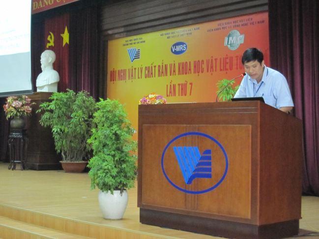 NCS. Nguyễn Văn Đăng báo cáo tại Hội nghị SPMS 7
