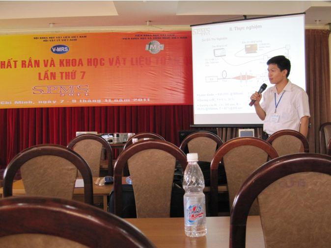 NCS. Nguyễn Văn Hảo báo cáo tại Hội nghị SPMS 7
